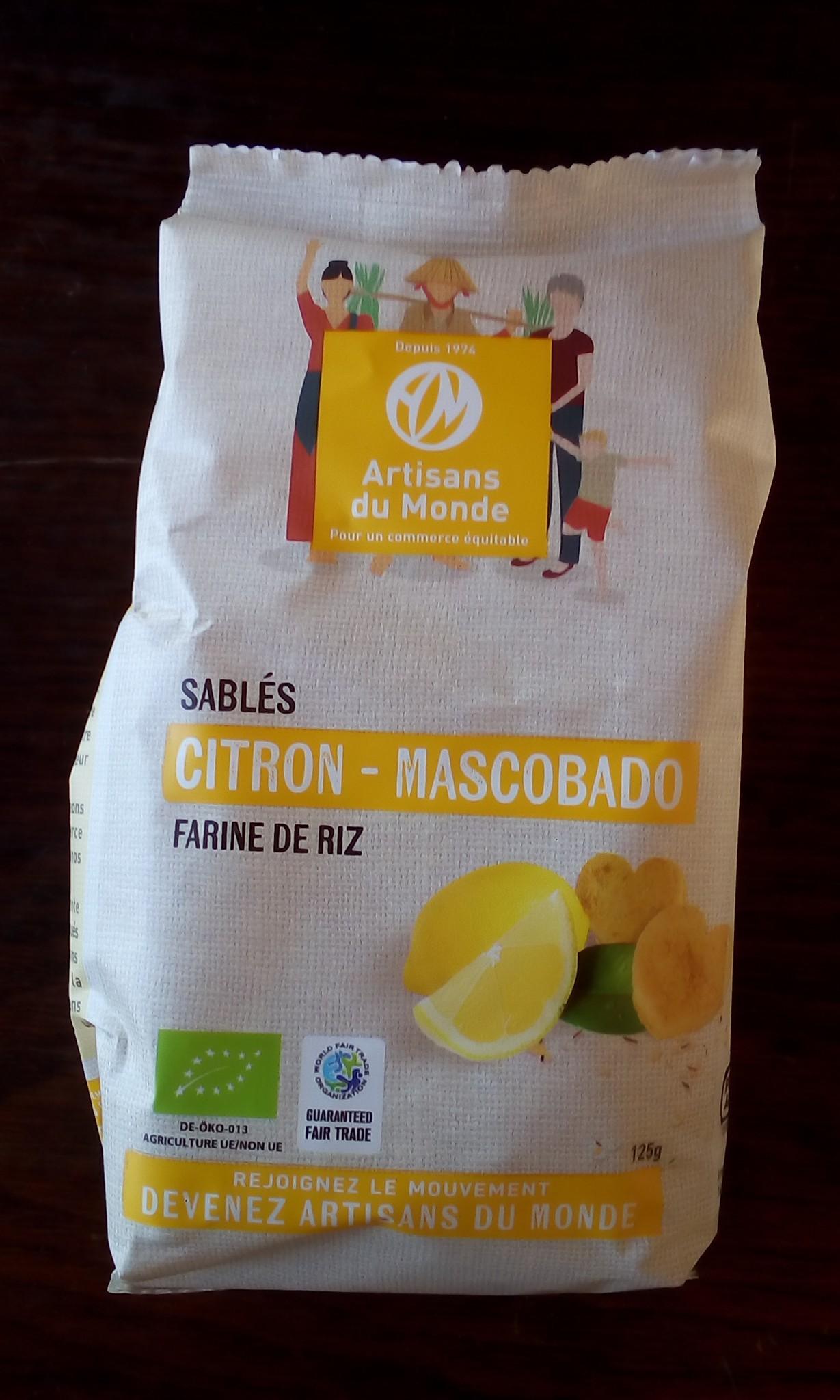Sablé citron mascobado